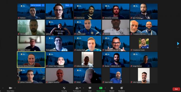 Inter de Milão realiza estágio técnico virtual para técnicos e donos de escolas de futebol