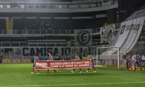 Saiba porque o time do Bahia atrasou a volta para o segundo tempo na partida contra o Santos